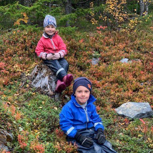 Barn på hösten!